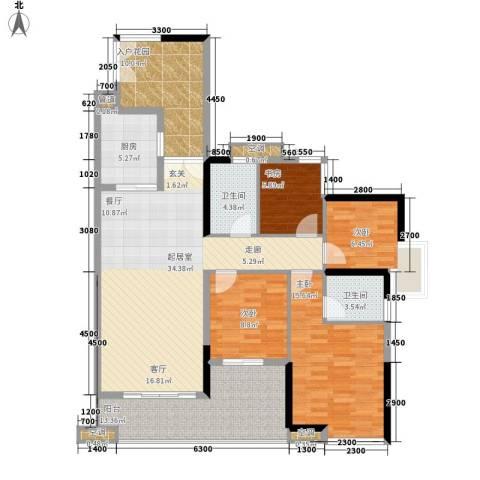 恒骏花园4室0厅2卫1厨156.00㎡户型图