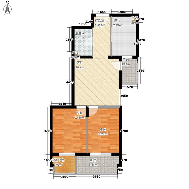世纪花园119号楼78.00㎡世纪花园面积7800m户型