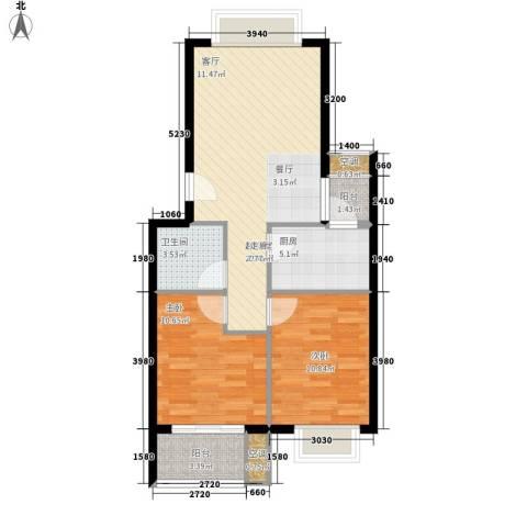 大唐世家2室0厅1卫1厨67.00㎡户型图