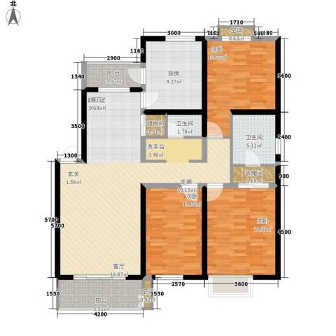 紫薇田园都市3室0厅2卫1厨140.00㎡户型图