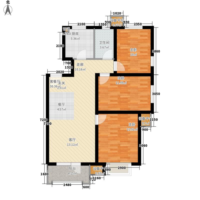 颐和花园小区127.00㎡面积12700m户型