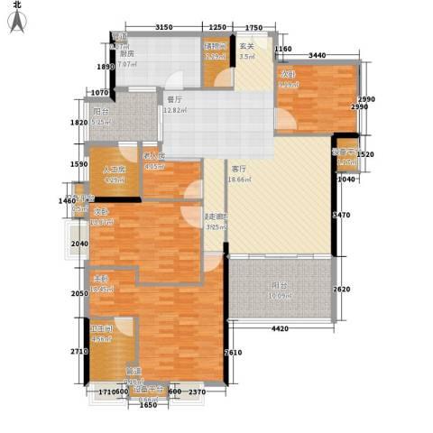 时代玫瑰园4室0厅1卫1厨136.00㎡户型图