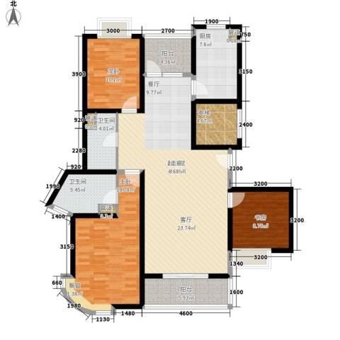 银河怡园公馆3室0厅2卫1厨161.00㎡户型图