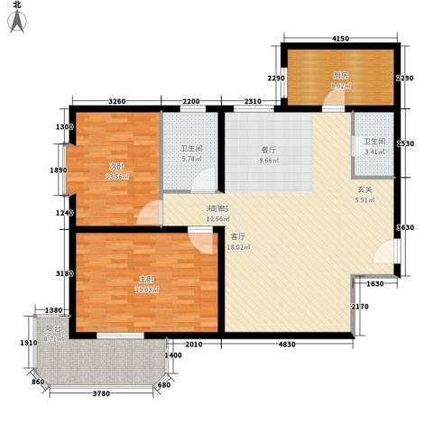 明德雅园大厦2室0厅2卫1厨115.00㎡户型图