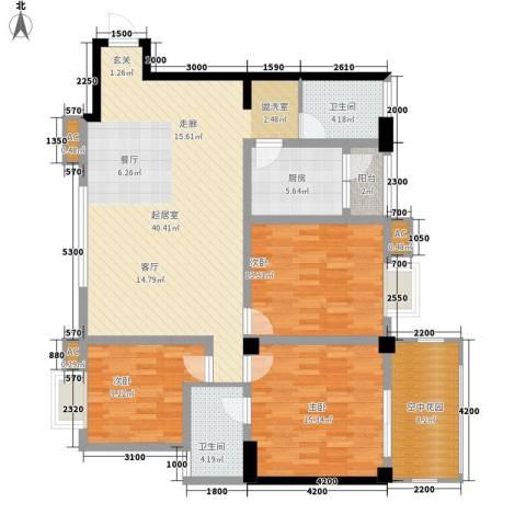 泛林格兰晴天3室0厅2卫1厨119.25㎡户型图