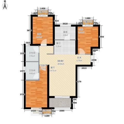 丰源美佳别墅3室1厅2卫1厨116.00㎡户型图