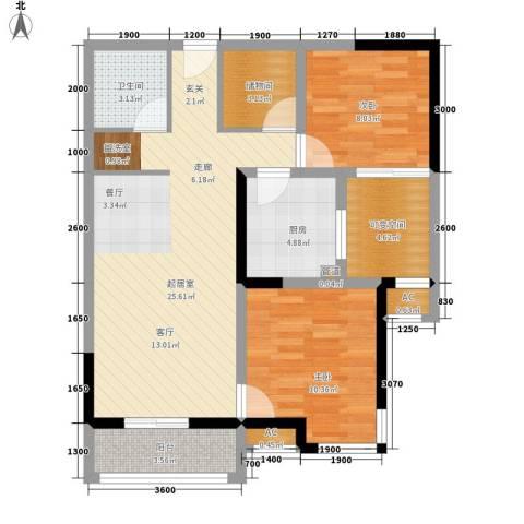 成都A区2室0厅1卫1厨83.00㎡户型图