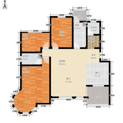 洪城比华利3室0厅2卫1厨153.00㎡户型图