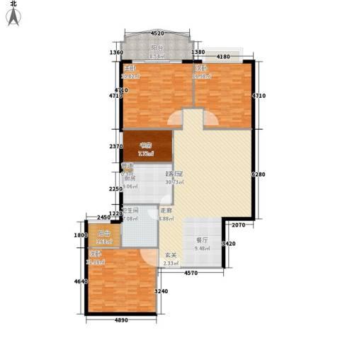 都市华庭4室0厅1卫1厨160.00㎡户型图