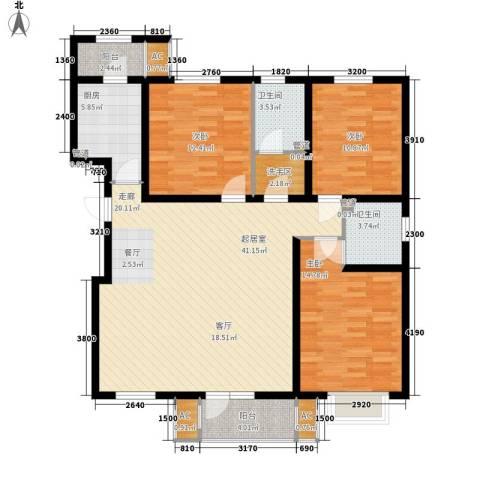 建投领海三期3室0厅2卫1厨138.00㎡户型图