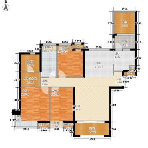 保利国际广场3室0厅2卫1厨136.00㎡户型图