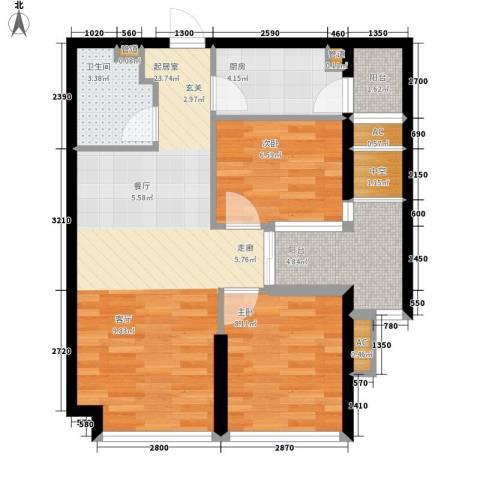 锦业时代2室0厅1卫1厨66.00㎡户型图