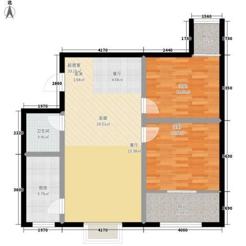 凯嘉时代华城2室0厅1卫1厨85.00㎡户型图