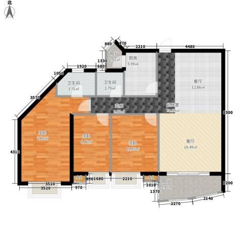 湘中海星之都3室0厅2卫1厨140.00㎡户型图