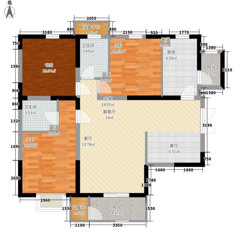 和平时光4号楼标准层H4户型