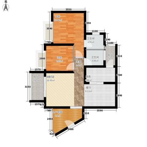 名门庄园2室0厅2卫1厨99.00㎡户型图