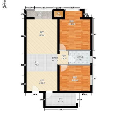 中环国际城2室0厅1卫1厨105.00㎡户型图