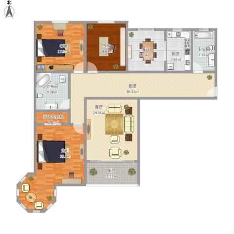 凯润花园3室2厅2卫1厨227.00㎡户型图