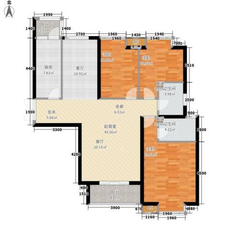 东城新一家3室0厅2卫1厨142.00㎡户型图