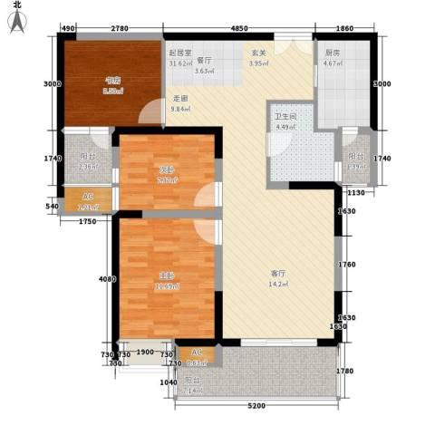 新兴骏景园3室0厅1卫1厨115.00㎡户型图