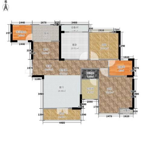 圣特立国际花园3室0厅2卫1厨116.00㎡户型图