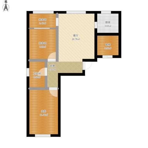 金湾山城1室1厅1卫1厨80.00㎡户型图