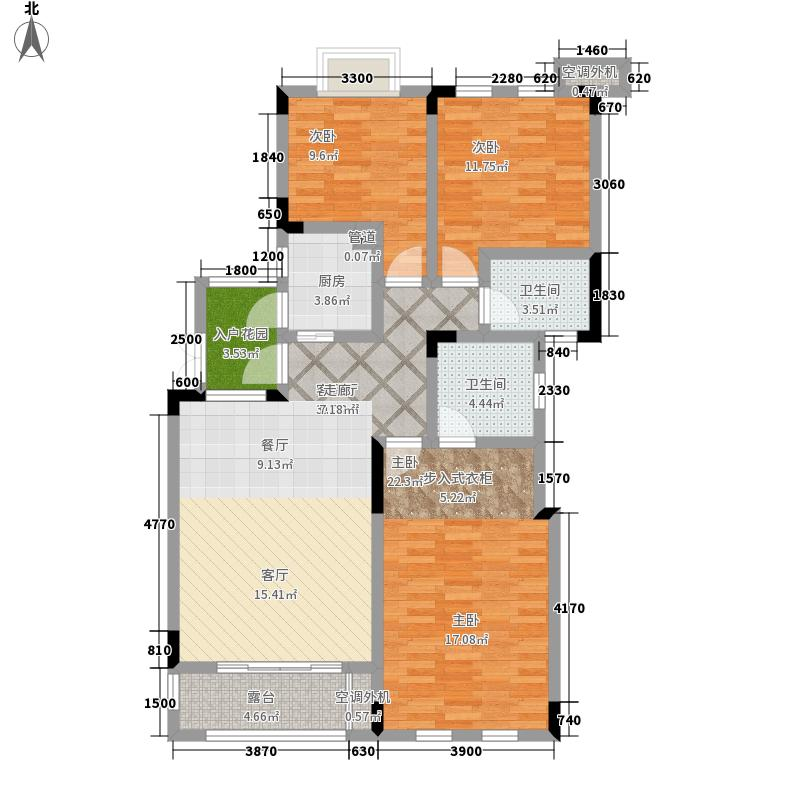 山千院101.68㎡二期12/13栋洋房第7层中间A7户型