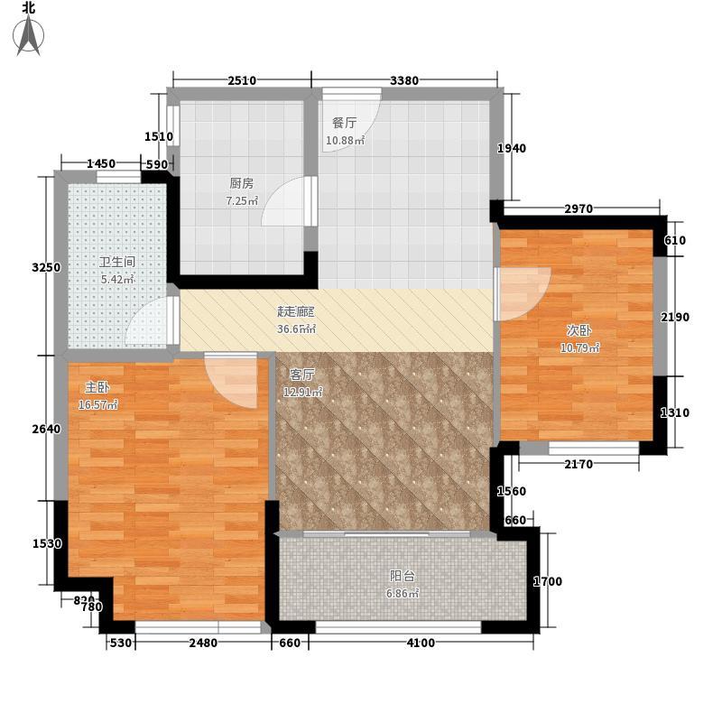 金象泰紫薇花园86.81㎡9#E3户型3室2厅