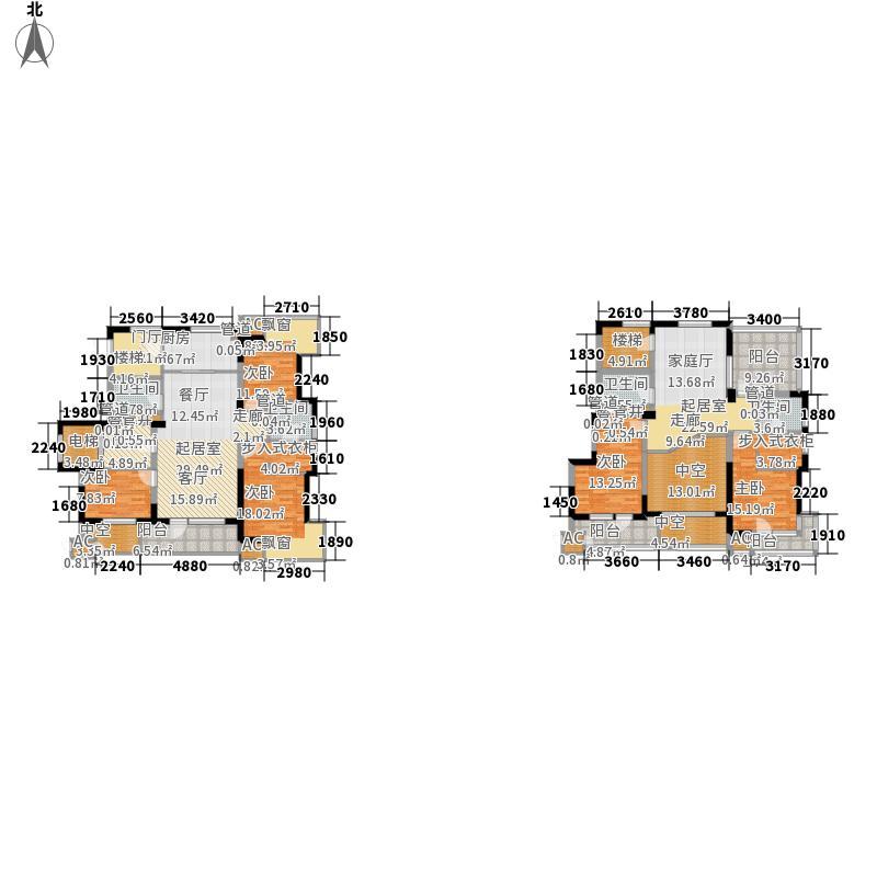 中铁人杰水岸240.00㎡二期小高层平米C户型5室3厅