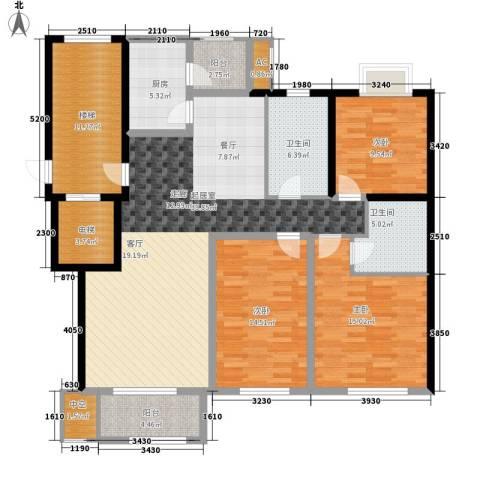 新隆蓝天公寓3室0厅2卫1厨138.00㎡户型图