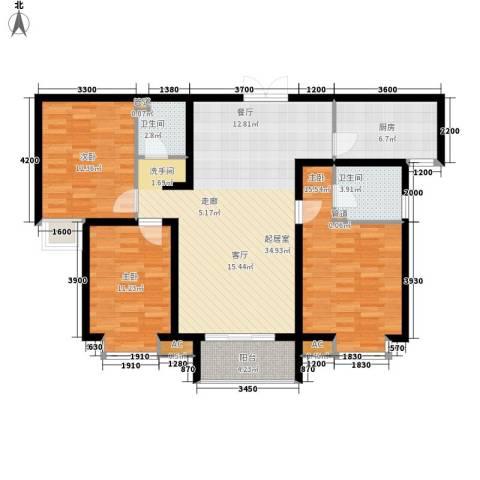 东城新一家3室0厅2卫1厨124.00㎡户型图