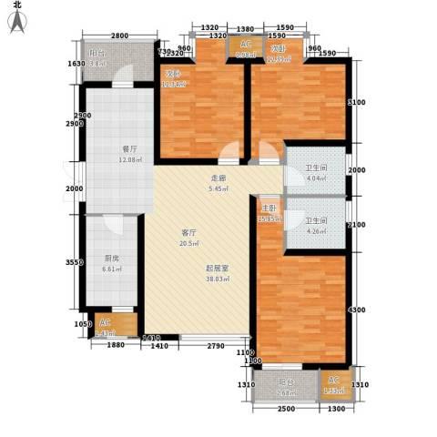 东城新一家3室0厅2卫1厨133.00㎡户型图