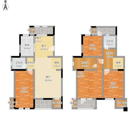 叶与城4室1厅3卫1厨229.00㎡户型图