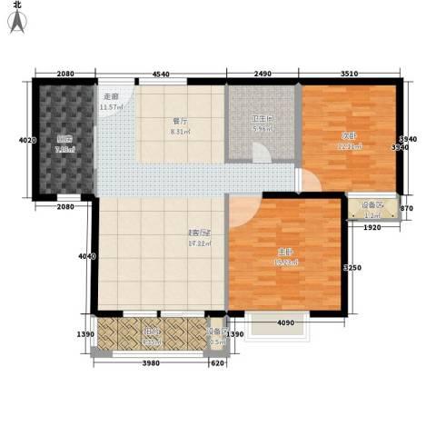 旭辉十九城邦2室0厅1卫1厨94.00㎡户型图