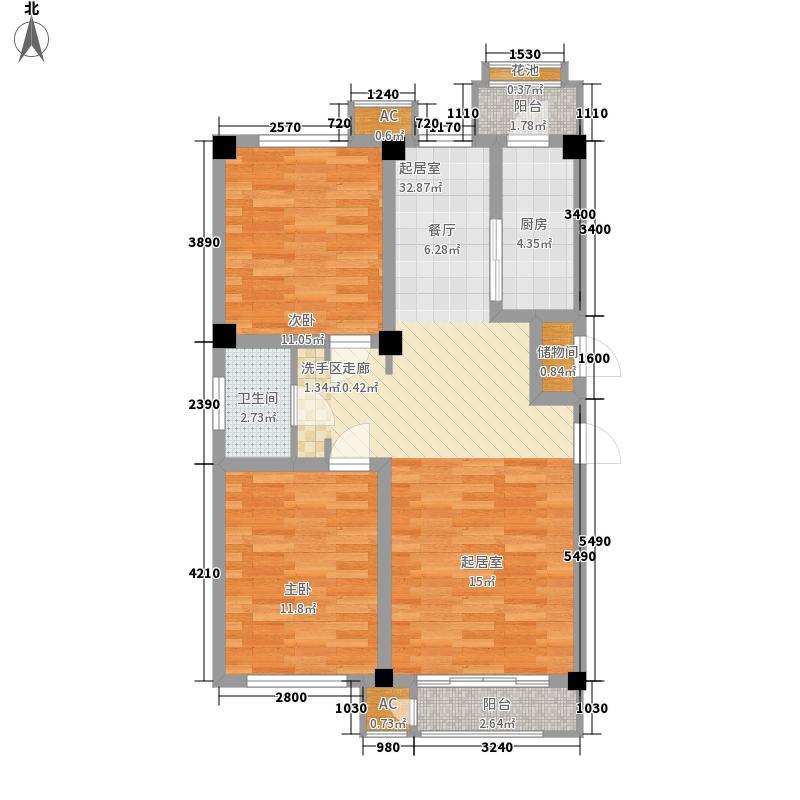 建投领海三期97.00㎡洋房标准层跃层D3户型