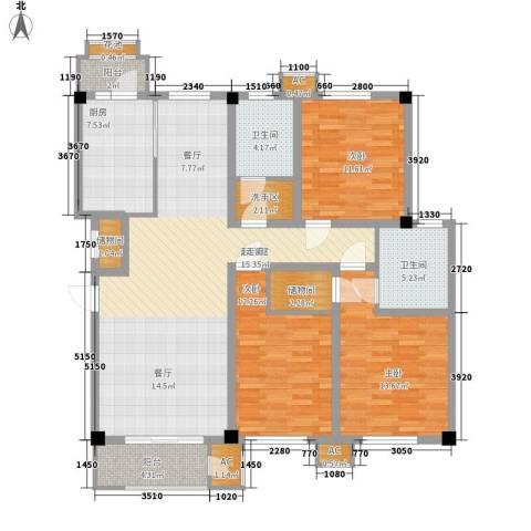 建投领海三期3室0厅2卫1厨139.00㎡户型图
