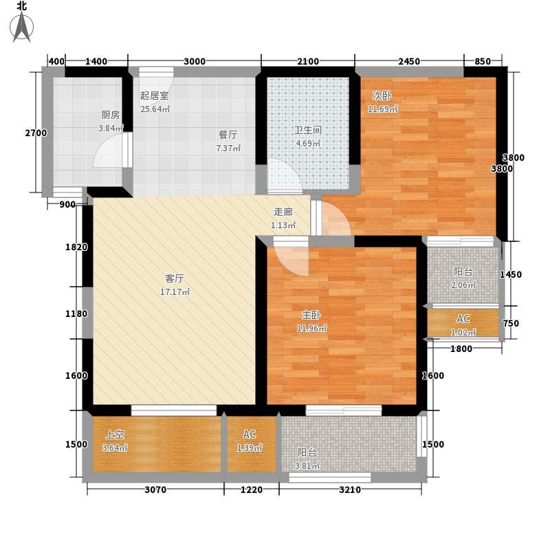 唐韵三坊85.38㎡三期14/15/18号楼B2、B4偶数层户型