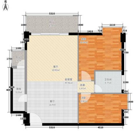 时代花园2室0厅1卫1厨111.60㎡户型图