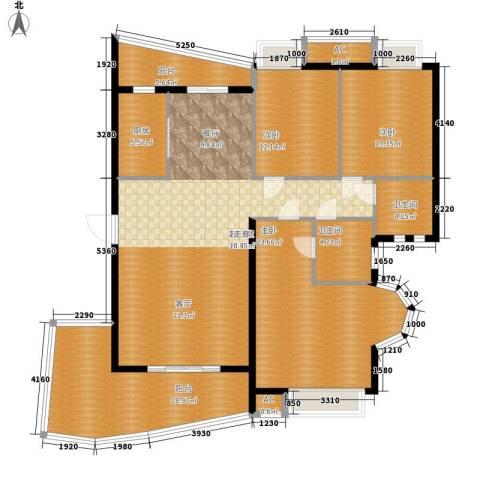 汉水熙园3室0厅2卫1厨196.00㎡户型图