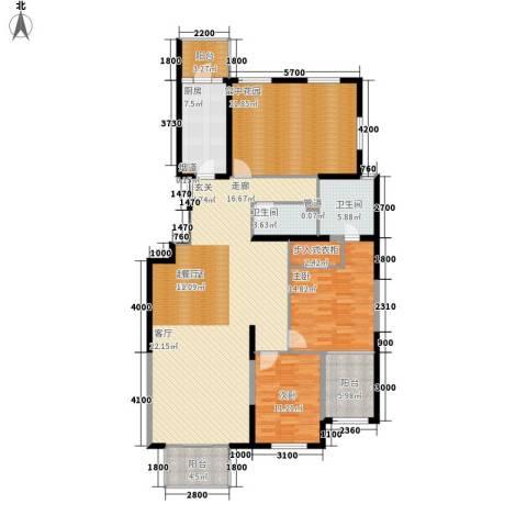 晶城秀府2室0厅2卫1厨156.00㎡户型图
