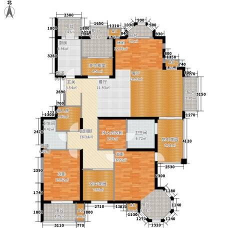 晶城秀府2室0厅2卫1厨202.00㎡户型图