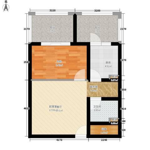 玫瑰坊1室0厅1卫1厨56.00㎡户型图