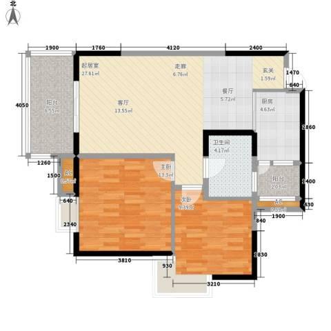 升伟新意境2室0厅1卫1厨68.65㎡户型图