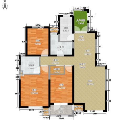 宏泰·美树3室1厅2卫1厨137.00㎡户型图