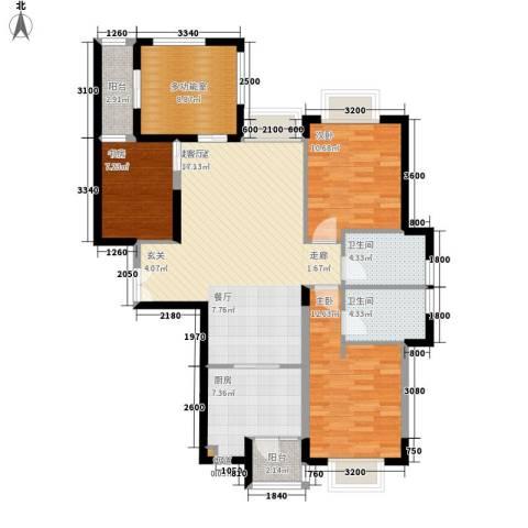唐品A+3室0厅2卫1厨103.87㎡户型图