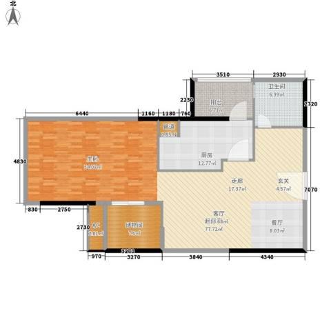 珠江新岸公寓1卫1厨114.64㎡户型图