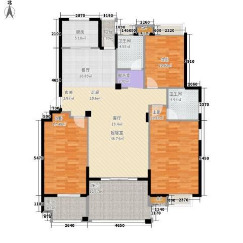 春天里3室0厅2卫1厨146.00㎡户型图