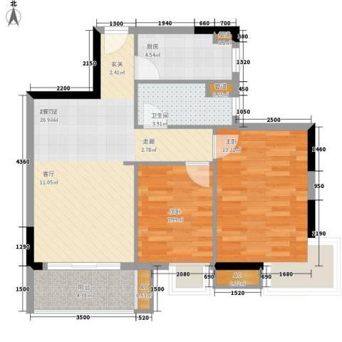 翰林1+12室0厅1卫1厨74.00㎡户型图