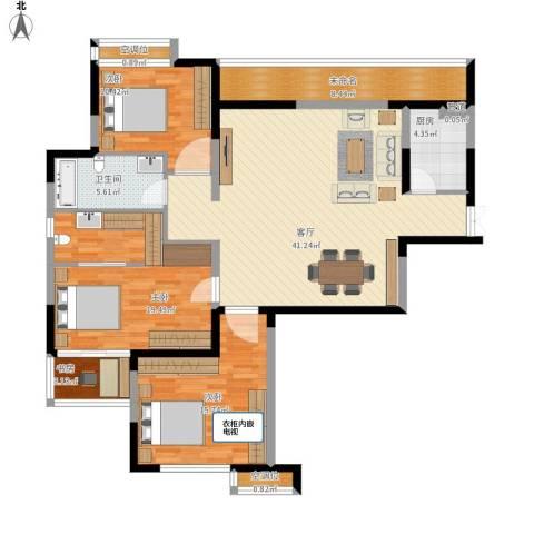 麒麟山庄4室1厅1卫1厨158.00㎡户型图