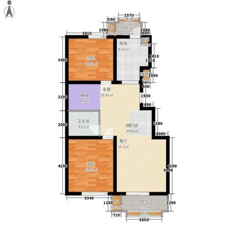 建投领海三期2室0厅1卫1厨98.00㎡户型图